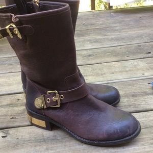 Vince Camuto Exclusive Burgandy Winchell Moto Boot